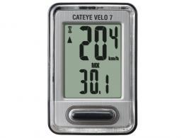 Cyklopočítač CAT Velo 7 (VL520) černá/stříbrná  - zvětšit obrázek
